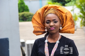 nigerian gold colour gele head gear and makeup IMG_9478